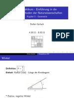 Kompaktkurs 3 - Geometrie