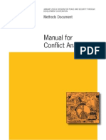Manual for Conflict Analysis
