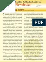 Buddhist Publication Society Newsletter 62