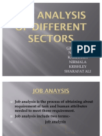 Job Analysis of Different Sectors