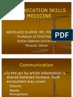 Communication Skills in Medicine