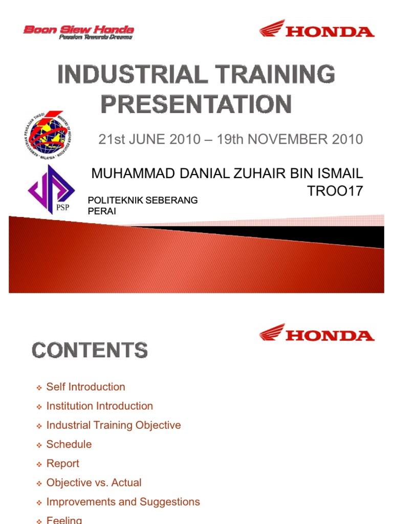 Contoh Slide Latihan Industri Engineering Technology