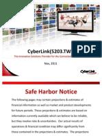 CyberLink_Nov 2011 (Sales)