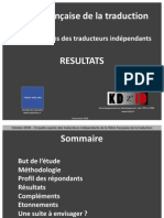 Resultats Enquete Filiere Traduction Tradonline Kdzid