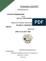 Piyush Training Report
