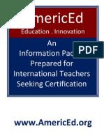 International Teacher Certificate AmericEd IEC