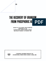 The Recovery From Uranium From Phosporic Acid.iaec.Vienna.1987