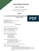 Teología Vol I Tratado II Libro II La Revelación Cristiana -  De Fontibus Revelationis