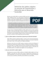 07. V. Definición público objetivo en procesos de Comunicación y Educación para el Desarrollo Sostenible