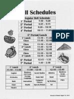 2011-2012 CHS Bell Schedule