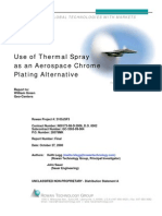 Thermal Spray Cr Alternative