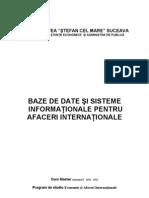 Baze de date şi S.I. pt. AfaceriMaster