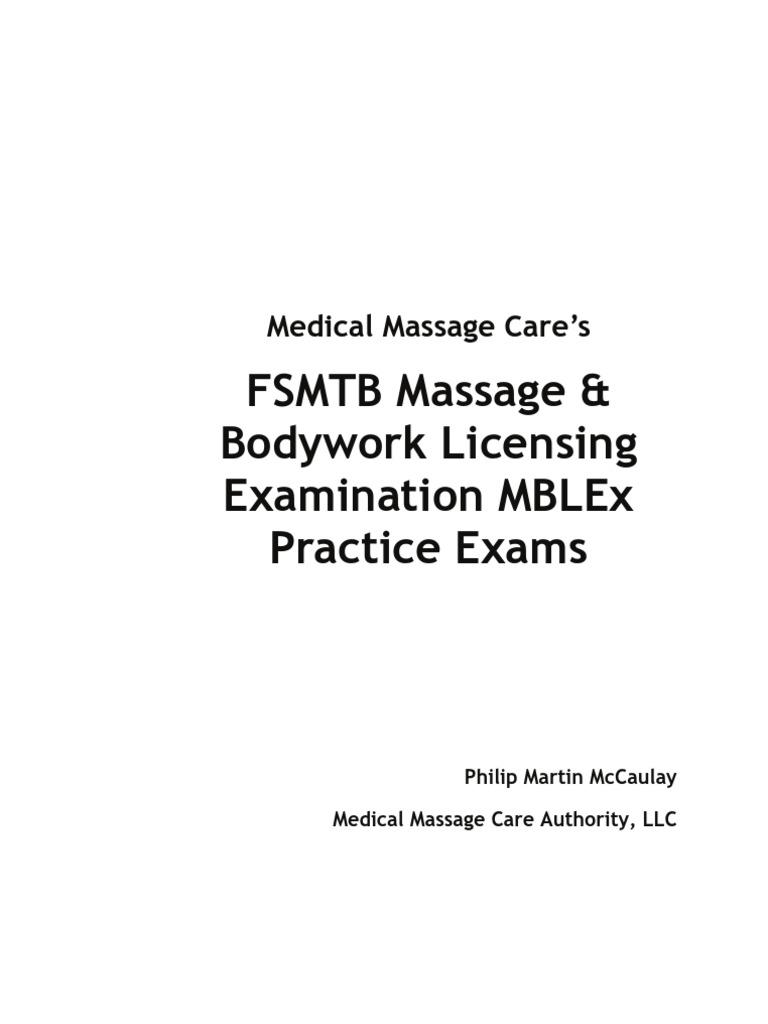 MBLEx Practice Exams   Foot   Massage