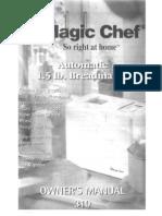 Magic Chef Model CBM310 Bread Maker Manual