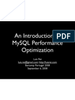 An Introduction To MySQL Performance Optimization