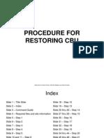 Procedure for Restoring Cbu Final
