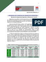 Eficiencia de Cosecha de Granos en Argentina