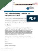 Fresh Produce Handling, Sanitation, And Safety Measures_ Citrus