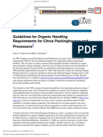 Guidelines for Organic Handling Requirements for Citrus Packinghouses and Processors