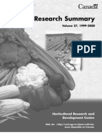 Research Summary of Post Harvest and Others Crops
