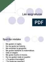 Las Asignaturas - Start and Translations