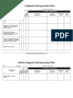 Worker Hygiene Trining Action Plan