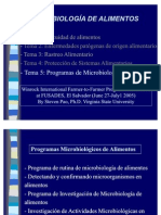 Programa de Microbiologia de Alimentos