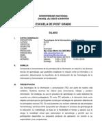 SILABO TICS EN LA EDUCACIÓN - HUANCAYO