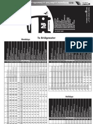 114 Bus Schedule | Workweek And Weekend | Passenger Rail