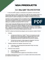 Foxx 3 Manual