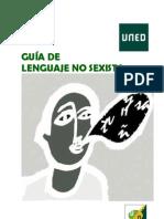 Guía de lenguaje no sexista (Uned Oficina de Igualdad)
