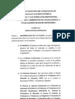 Pacto Colectivo de condiciones de trabajo entre MINEDUC y SINDICATOS