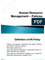 Human Resource Management - Policies
