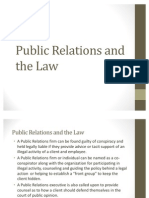 Public Relations and the Law Examples