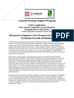 IFPRI PSSP Call for Research Proposals to Support the Pakistan Framework for Economic Growth