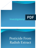insecticidal property of radish extract