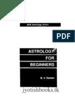 Astrology for Beginners B v Raman