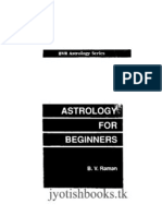Astrology for Beginners B v Raman