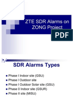 ZTE SDR Alarms on ZONG Project