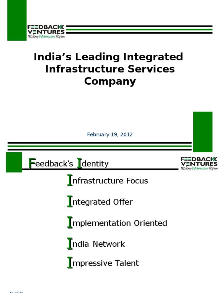 Feedback Corporate Presentation Feb09   Infrastructure