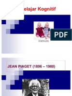 Teori Belajar Kognitif Jean Piaget