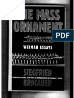 Siegfried Kracauer the Mass Ornament