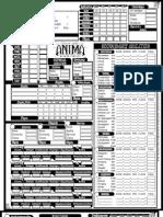 Anima Character Sheet