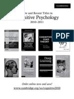Sternberg Cognitive Psychology 2010-2011