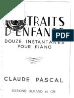 Pascal, Claude - Portraits d'Enfants (Pf)