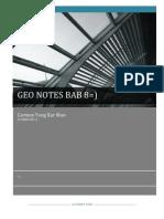 Geo Notes Bab 8