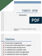 TBB2073 - Lecture1
