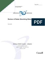Review of Radar Absorbing Materials