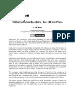 Halliburton Dumps Blackberry - Goes iOS and iPhone