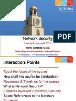 CSG513 NetSEc Lecture 1 Jan 09 2012